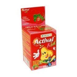 Béres Actival Kid eper ízű rágótabletta 30db