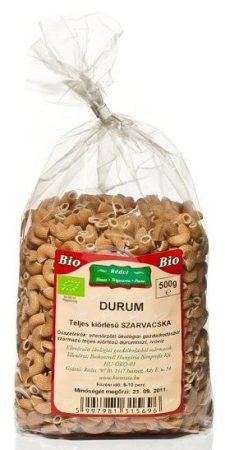 Rédei Bio durum teljes kiőrlésű tészta szarvacska 500g