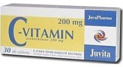 Jutavit c-vitamin 200mg tabletta 30db