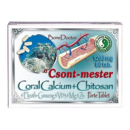 Dr. Chen Coral Calcium+Chitosan Forte Tabletta 80db