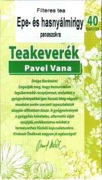 Pavel Vana teakeverék epe és hasnyálmirigy panaszokra filteres 40db