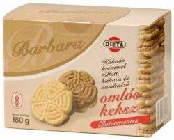 Barbara gluténmentes omlós keksz, kakaós 180g