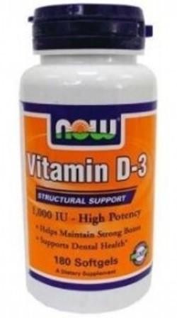 Now vitamin d-3 1000ne lágyzselatin kapszula 180db