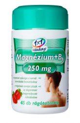 1x1 Vitaday rágótabletta mg 250mg + b6 eper 45db