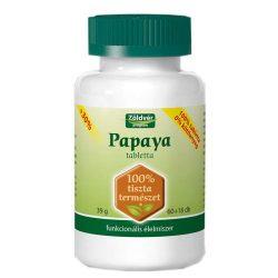 Zöldvér Papaya tabletta 60+18db