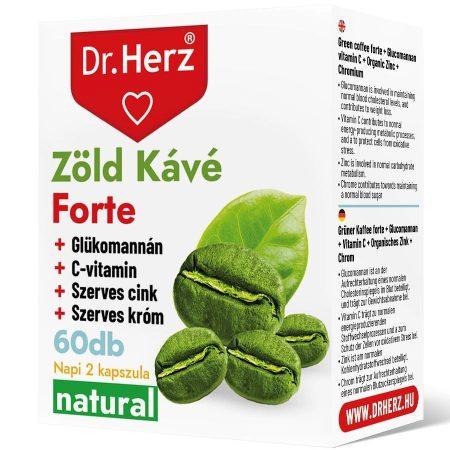 Dr. Herz zöld kávé + C vitamin kapszula krómmal 60db