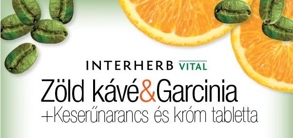Interherb vital zöld kávé&garcinia tabletta 60db