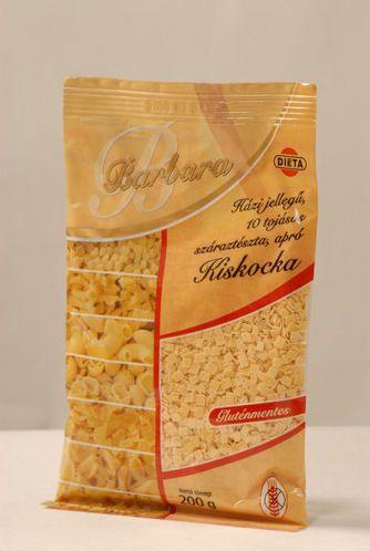 Barbara gluténmentes száraztészta - Kiskocka 200g