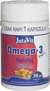 Jutavit omega-3-pro halolaj 1000mg kapszula 30db