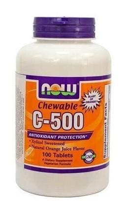Now c-500 rágótabletta narancs ízű 100db