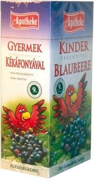Apotheke gyümölcstea kékáfonya gyermekeknek papagáj filteres 20db
