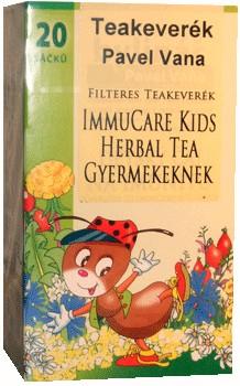 Pavel Vana teakeverék immucare kids herbal filteres 20db