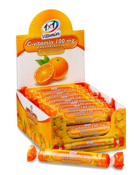 1x1 Vitaday rágótabletta narancs szőlőcukorral 17db