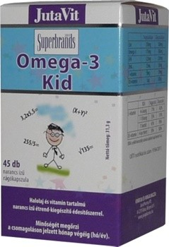 Jutavit omega-3 kid rágókapszula 45db