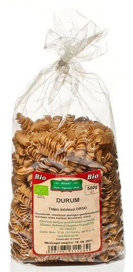Rédei Bio durum teljes kiőrlésű tészta orsó 500g