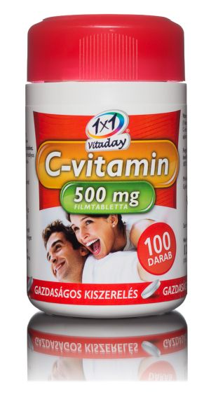 1x1 Vitaday filmtabletta c-vitamin 500mg 100db
