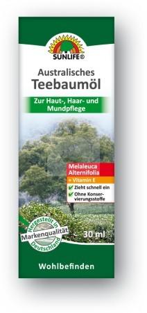 Sunlife ausztrál teafaolaj 30ml