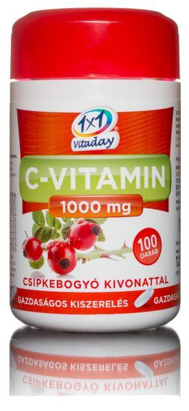 1x1 Vitaday c-vitamin csipkebogyós 1000mg  tabletta 100db
