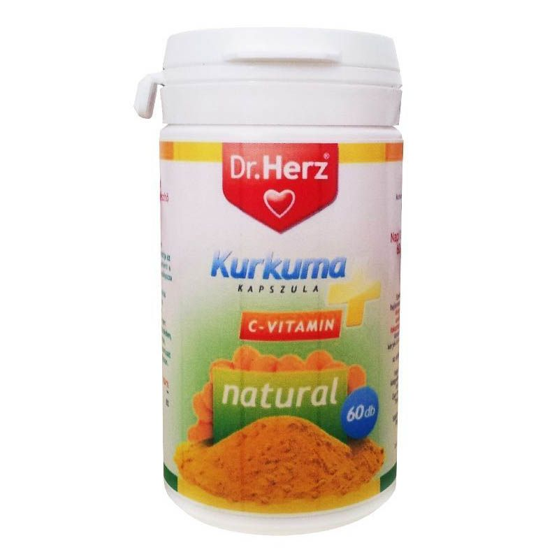 Dr. Herz Kurkuma + C-vitamin kapszula 60 db