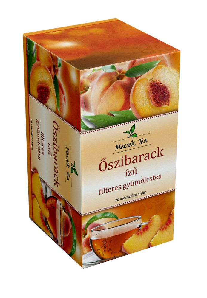 Mecsek Őszibarack ízű filteres tea 20db