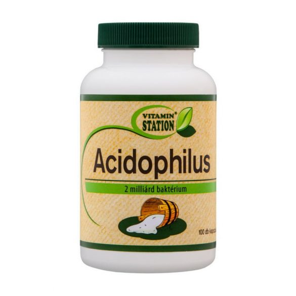 Vitamin Station Acidophilus Tabletta 100db