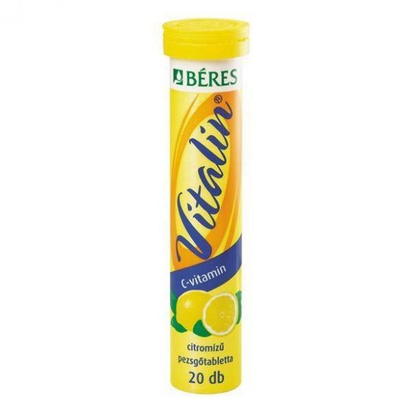 Béres Vitalin C-vitamin pezsgőtabletta citrom 20db