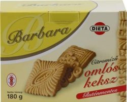 Barbara gluténmentes omlós keksz, citrom ízű 180g