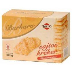 Gluténmentes barbara kréker sajtos 180g