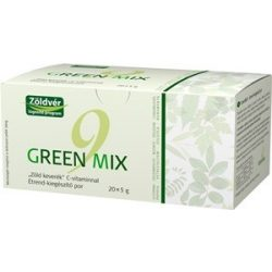Zöldvér green mix 9 zöld keverék + c-vitamin por 100g