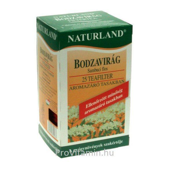 Naturland Bodzavirág tea, filteres 25x1g