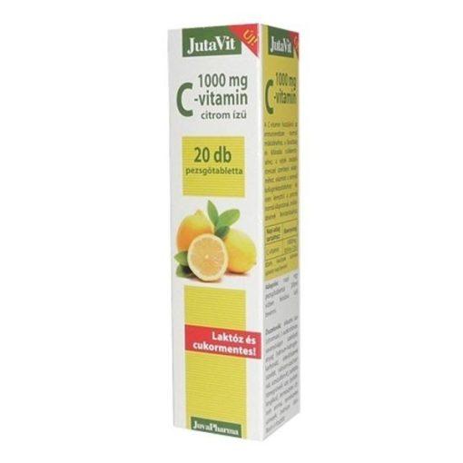 Jutavit c-vitamin 1000mg citrom ízű pezsgőtabletta 20db