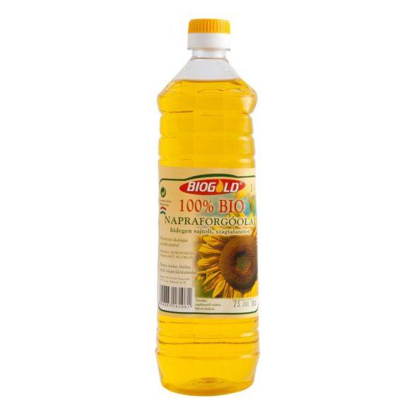 Biogold bio napraforgó olaj hidegen sajtolt, szagtalanított 1000ml