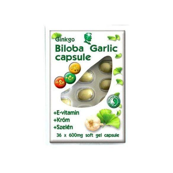 Dr. Chen Ginkgo Biloba+ Fokhagyma Kapszula 600 mg 40db