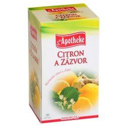 Apotheke tea gyömbéres citrom filteres 20db