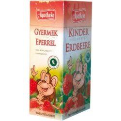 Apotheke gyümölcstea eper ízű gyermekeknek filteres 20db