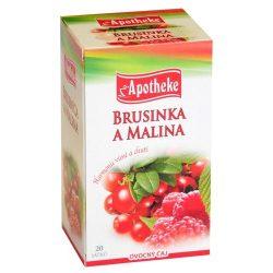 Apotheke tea tőzegáfonya málna filteres 20db