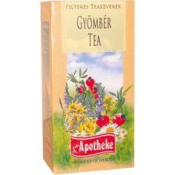 Apotheke tea gyömbér filteres 20db