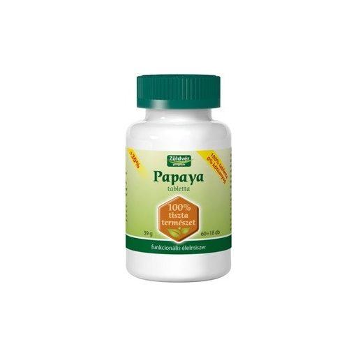 Zöldvér 100% papaya tabletta 78db