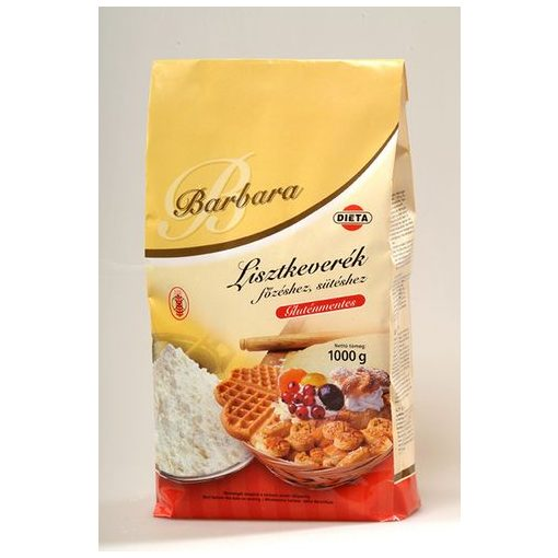 Barbara gluténmentes lisztkeverék főzéshez, sütéshez - 1000g