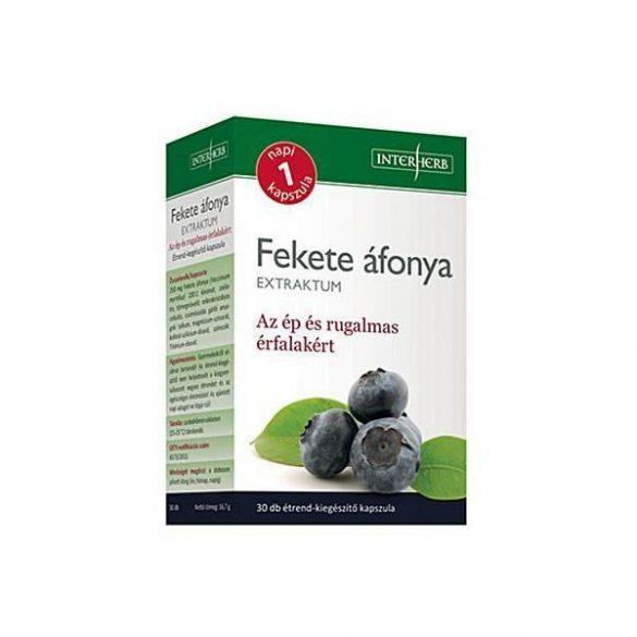 Interherb Napi 1 FEKETE ÁFONYA Extraktum kapszula 250 mg 30db