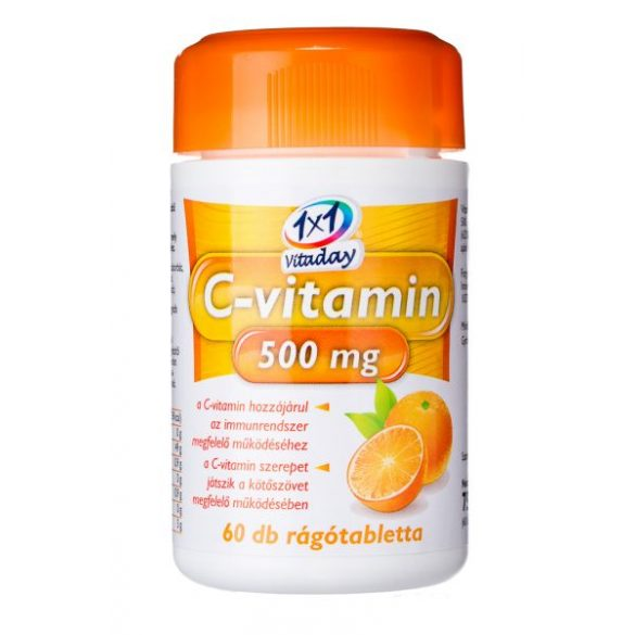 1x1 Vitaday rágótabletta c-vitamin 500mg 60db