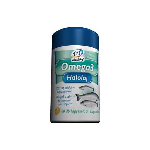 1x1 Vitaday lágykapszula omega-3 1000mg 60db