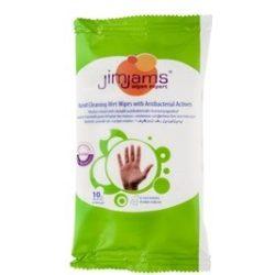 Jimjams törlőkendő nedves antibakteriális 10db