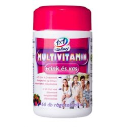 1x1 Vitaday rágótabletta multivitamin + cink + vas 60db
