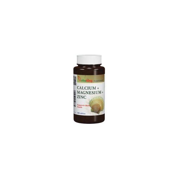 Vitaking Kalcium Magnézium Cink Tabletta 100db