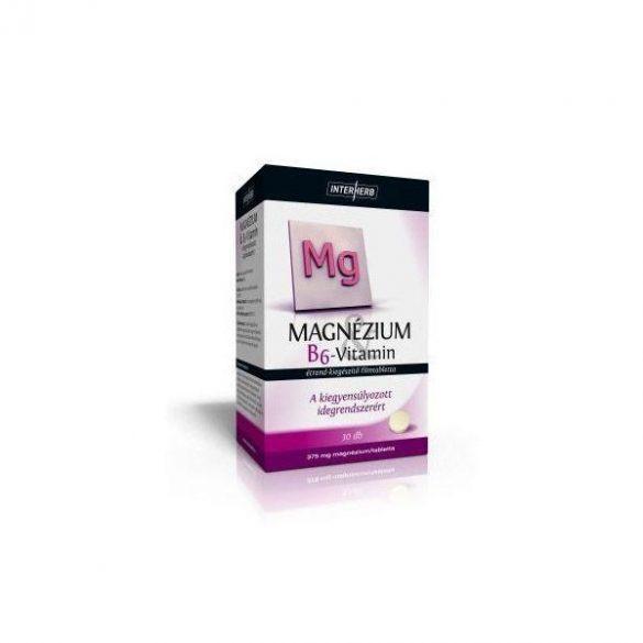 Interherb Magnézium + B6-Vitamin tabletta 30db