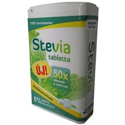 Cukor stop stevia tabletta 50x édesebb a nádcukornál 200db