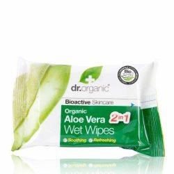 Dr.organic törlőkendő aloe vera 20db