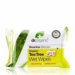 Dr.organic nedves törlőkendő teafa 20db