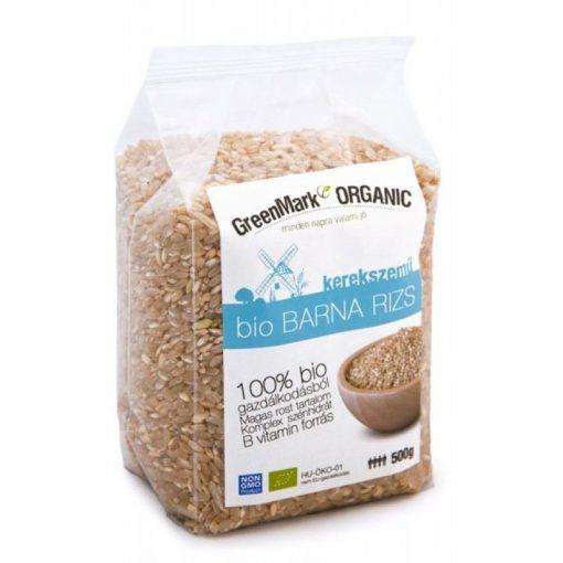 GreenMark Bio barna rizs kerekszemű 500 g